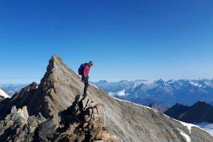 Lenspitze Nadelhorn traverse alpine climbing switzerland swis alps