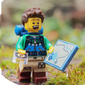 lego man map compass navigation learning square