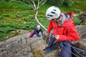 Rock climbing Polldubh Glen Nevis Ben Nevis learn to trad climb 4