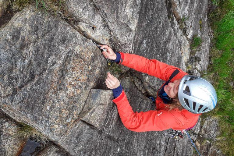 Rock climbing Polldubh Glen Nevis Ben Nevis learn to trad climb 9