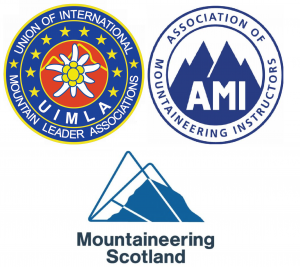 international mountain leader association of mountaineering instructors mountaineering scotland logos