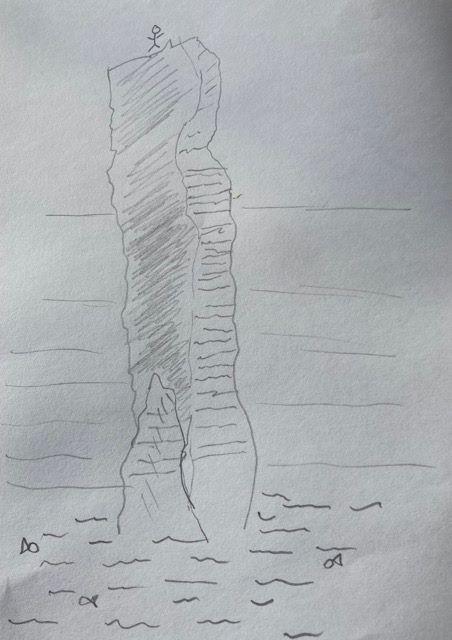 Adele Pennington Old Man of Hoy sketch