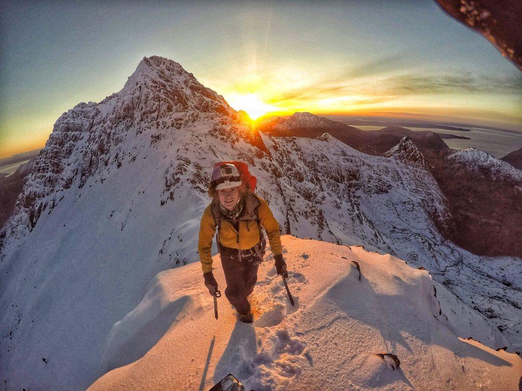 cuillin ridge winter traverse sunrise skye scotland