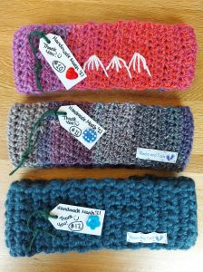 Hand made CozeeYarn headbands rocks and trails (5)