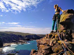 Rock Climbing Sea Cliff summit photo